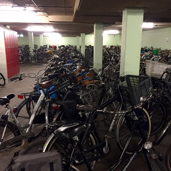 In a school with 5000 students, there are lots of bikes.